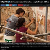Italian restorers in Ephesus