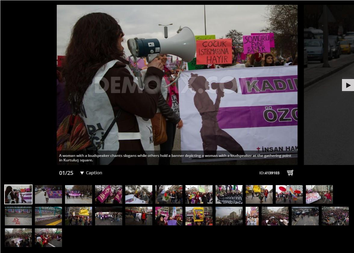 Women march for International Women's Day rally in Ankara