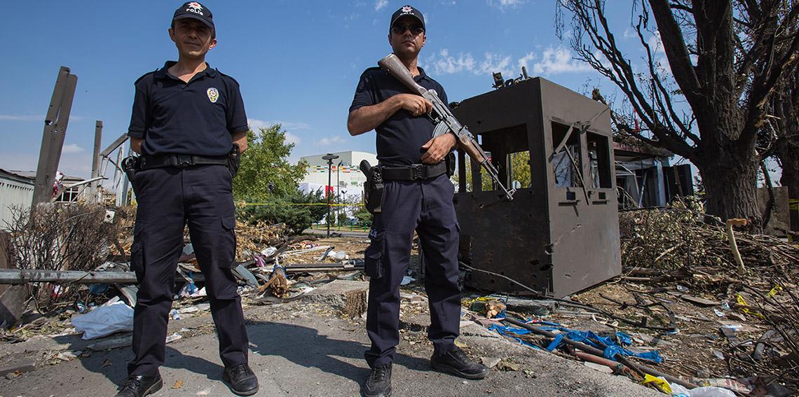 Guarding rubble