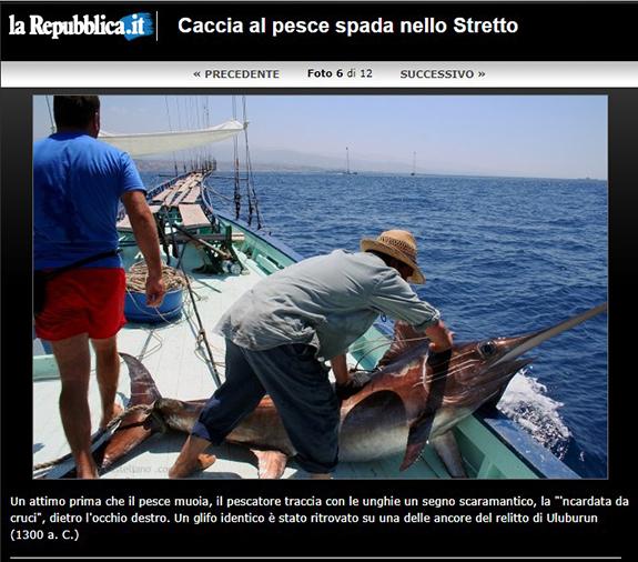 Sword fish hunt in Messina Straits