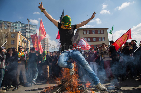 Kurds celebrate Newroz Spring day in Ankara Turkey