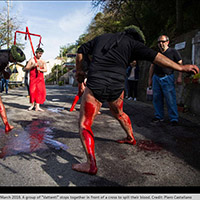 Easter Flagellants in Calabria, Italy