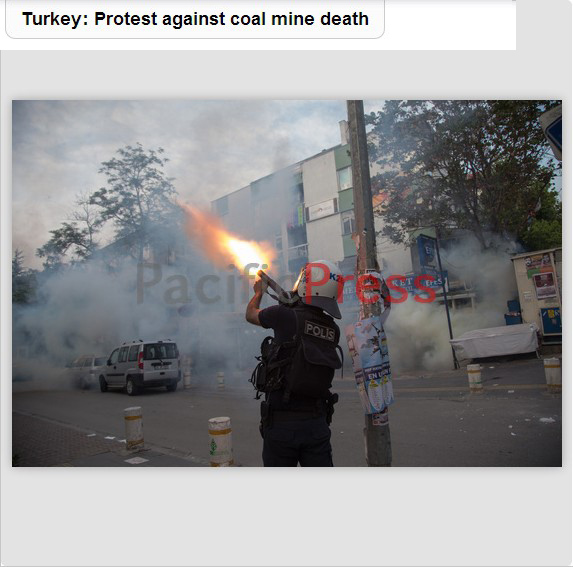 Protests in Turkey for Soma coal mine disaster